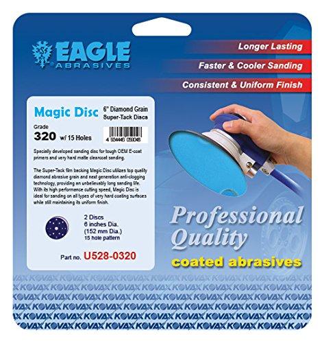 Eagle U528-0320 - 6 inch Magic Disc Diamond Abrasive Discs - 15 holes - (Job-Pak) - 2 Discs/Pack (Magic Pak)