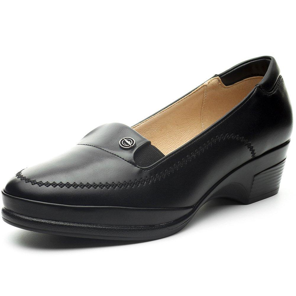 Cestfini Chaussures Noires Mocassins Plats pour Les Femmes Chaussures Compens/éEs Occasionnels des Femmes avec La Semelle Confortable Chaussures Imperm/éAbles en Similicuir