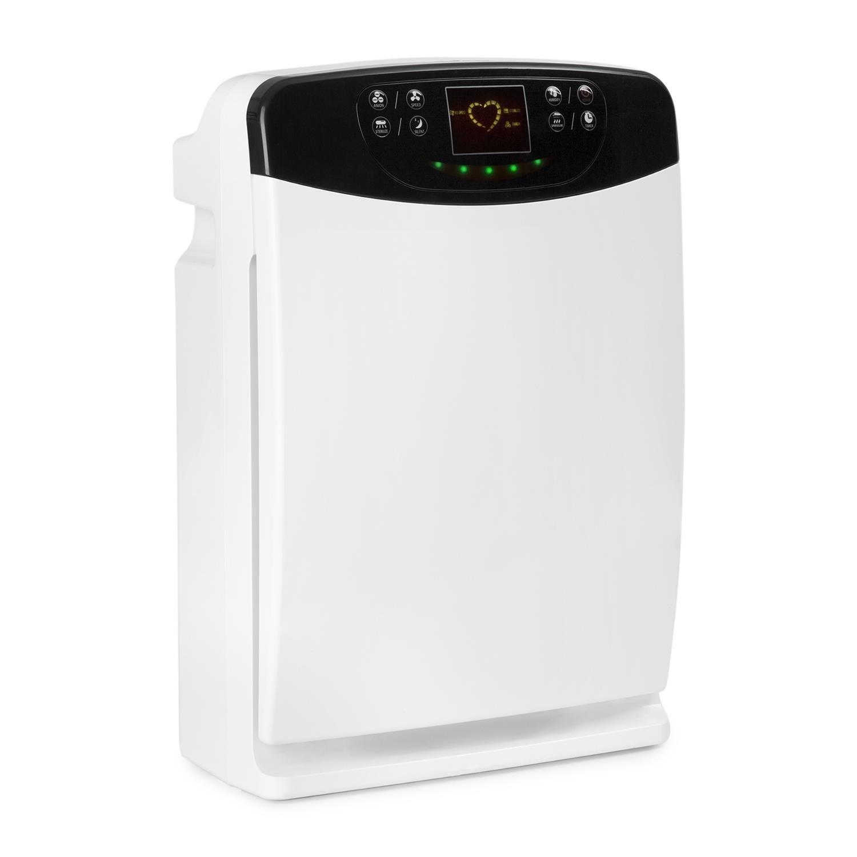 Klarstein Fresh Breeze Purificatore d'Aria 5-in-1 Ionizzatore Lampada UV Umidificatore Pannello touch Telecomando Bassa Rumorositá filtra allergeni, batteri, germi, funghi, polvere e odori sgradevoli filtro a carboni attivi Bianco