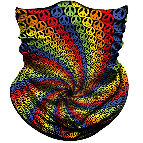 Face Mask Bandana For Women Girls Durable 3D Tube Face Shield Mask Seamless, Balaclava Colorful Breathable Sun Mask For Fishing Running Hunting Cycling Motorcycle Bike Hiking (Colorful Spiral Cool)