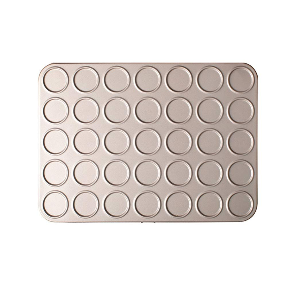 Kitchen Home Baking Tools, Cake Bread Macaron Creative Not Easy To Get Rid Of Mold, Gold Carbon Steel Easy to clean (Size : 25.535.23.5cm)