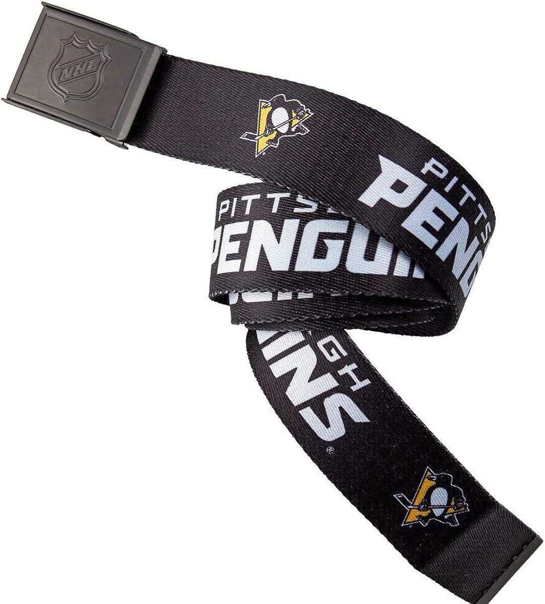 NHL Mens Woven Adjustable Team Logo Belt