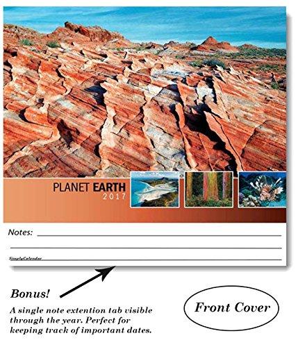 Planet Earth 2017 Wall Calendar-18.5 x 10.5 (Open)