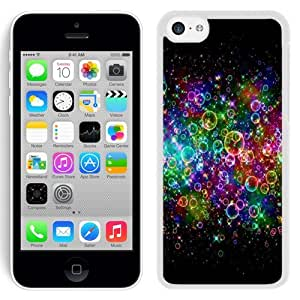 NEW Unique Custom Designed iPhone 5C Phone Case With Rainbow Colored Soap Bubbles_White Phone Case