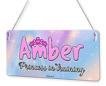 Amazon.com: Placa con el nombre de la princesa en el ...