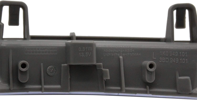 TAKPART Wing Spiegel Indikator Turn Signal Repeater Objektiv mit LED Leuchtmittel links Spiegelblinker Aussenspiegel 1K0949101