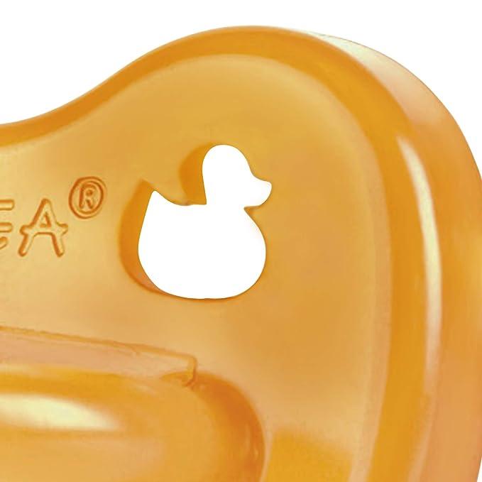 Hevea Duck - Chupete simétrico, 0-3 meses
