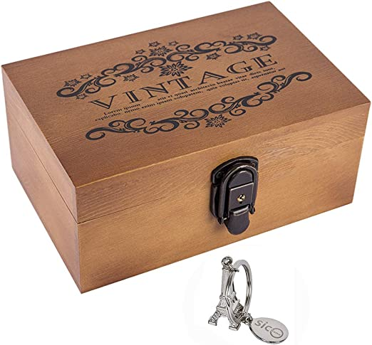 Small Diy Wooden Storage Gift Box Retro Wood Packaging Love Jewelry Boxes T