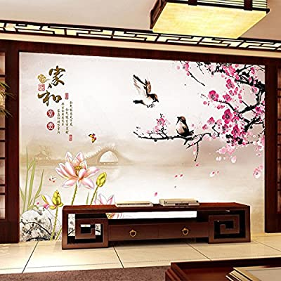 XLi-You The Chinese 3D Murals Tv Background Wall Paper Minimalist Modern Living Room Bedroom Seamless Video Walls