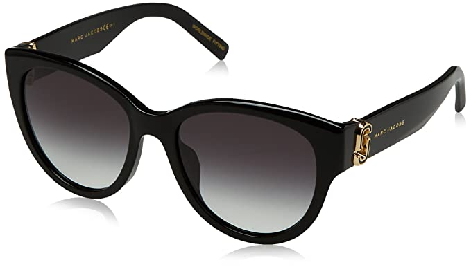 6b578bb509f2 Amazon.com: Marc Jacobs Women's Marc181s Oval Sunglasses, Black, 54 ...