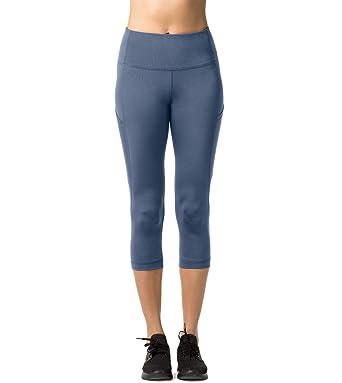 Mit Tasche1 Blickdicht High Lapasa Damen Wasit 2er mehrweg 34 Sport Capri Pants Pack Yoga Leggings Bis L002 Knielang w80knOPX