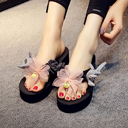 Flops Women's Beach Handmade JULY Bunny T Outdoor Slipper Summer Holiday Skid Non Black Sandals Flip aBxwIw5n