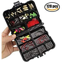 Oak-Pine 128Pcs/Set Fishing Accessories Set Carp Catfish...