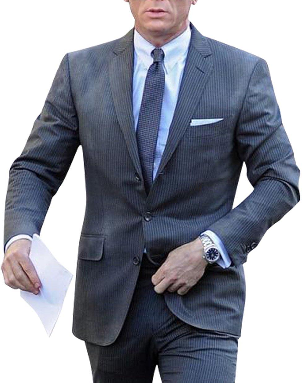 Lp Facon James Bond Skyfall Movie Daniel Craig Grey Suit At