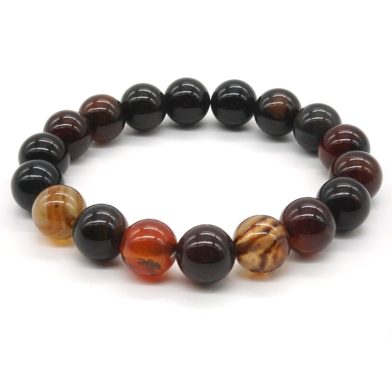 10 mm Stone Bracelet Agate Reiki Energy Bracelet Onyx Stone Bracelet Buddha Prayer Mala Bead Bead Elastic