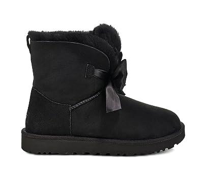 UGG Women's W GITA Bow Mini Fashion Boot, Black, ...