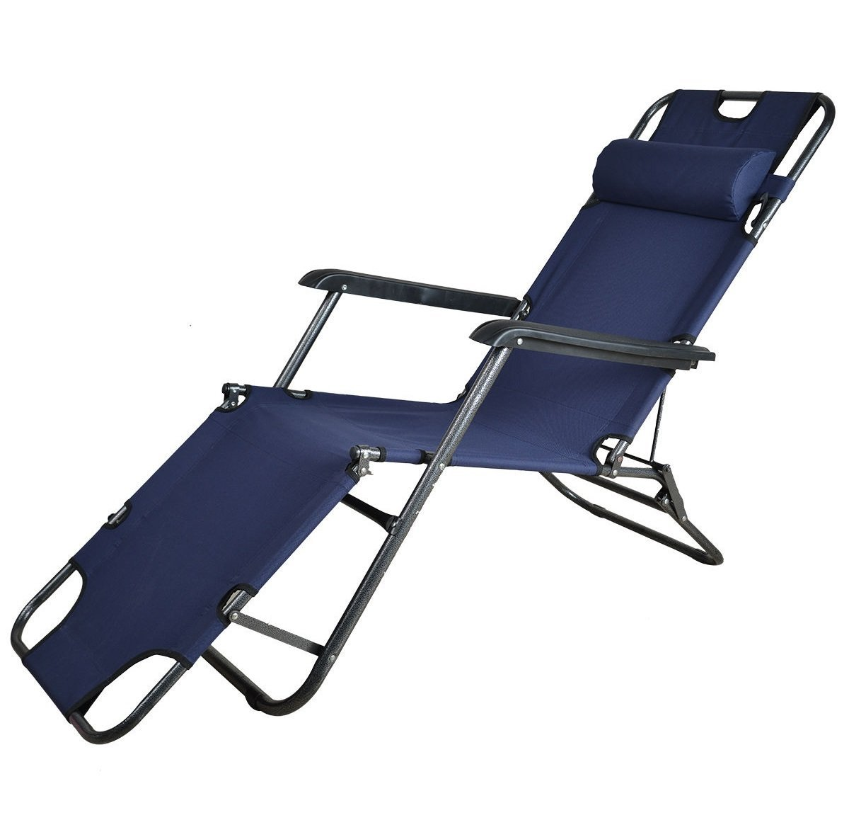 Kawachi Easy Folding Comfort Reclining Chair Dark Blue