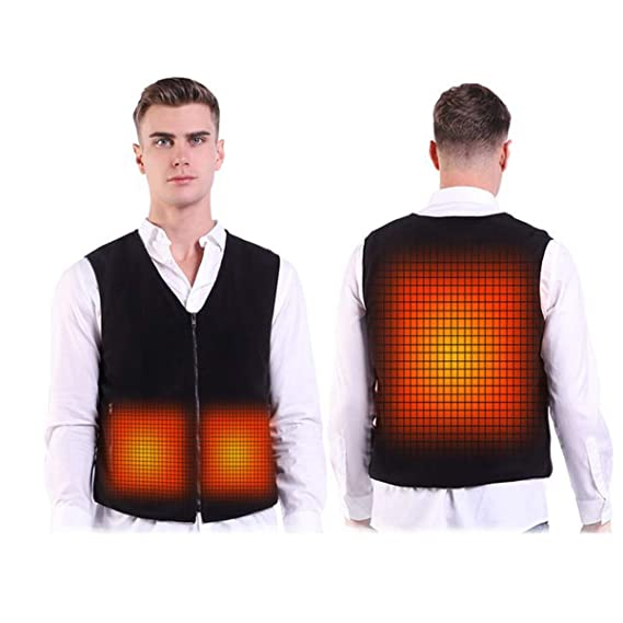 Baymyer Men Heated Vest Outdoor Electric Thermal Clothing Heating Jacket Black best heated vest for men