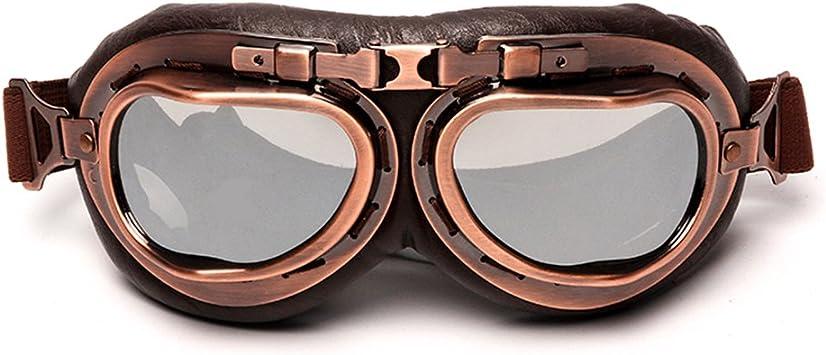 ispacegoa.com Retro Pilot Aviator Flying Brown Tint Goggles ...