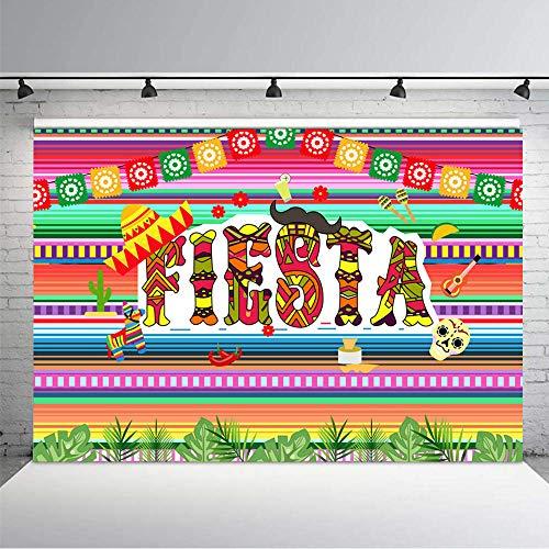 KSZUT 7x5ft Fiesta Backdrop Taco Bout Mexican Dress-up Photography Background Vinyl Fiesta Theme Birthday Party Banner Backdrops 210-1 -