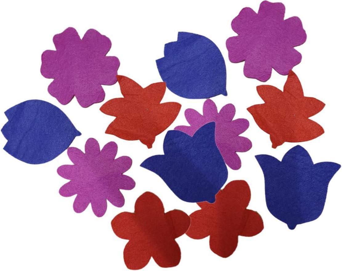 Motivo Floreale Funnythings Set di 12 sottobicchieri in Feltro Multicolore
