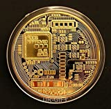 Fine BTC Bitcoin 24k Gold Plated Commemorative Round Collectible Coin 1oz by UR-GIFT