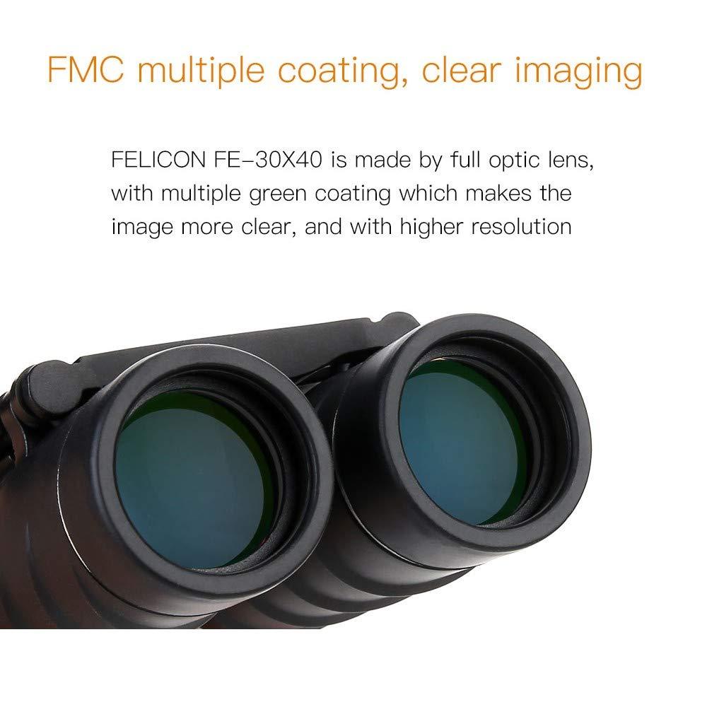 Binoculares de Largo Alcance y Potentes Prism/áticos Profesionales para Adultos TKTTBD 30X40 HD Mini Compacto Prism/áticos Observar Aves Caza