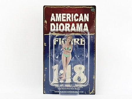 American Diorama August Bikini Calendar Girl Figurine for 1/18 Scale Models