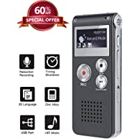 $21 » Upgrade Digital Voice Recorder 8GB, Sound Recorder MP3 Player for Lectures/Meetings…