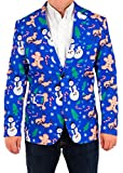Mens Holiday Naughty Christmas Suit Coat and Tie By Festified