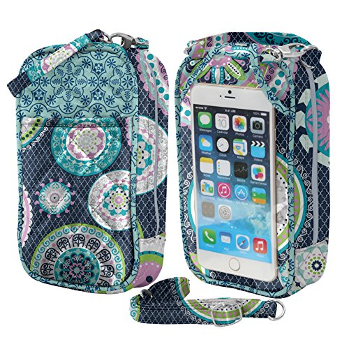 phones Fits Isabella Phone Quilt all Purse Charm14 Crossbody Cell AaBzz0