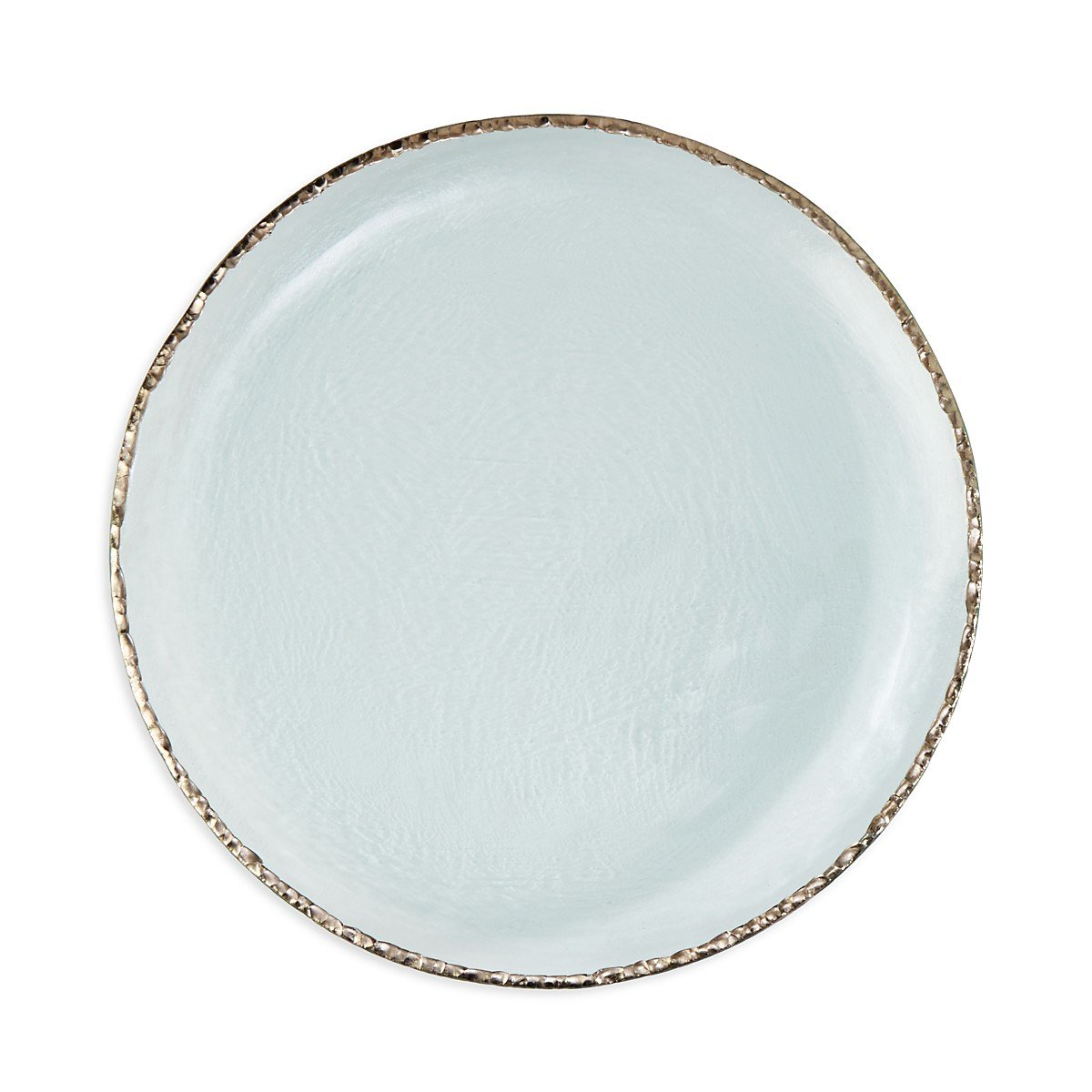 Annie Glass Edgey Platinum Charger plate 12'' round platter #e108p