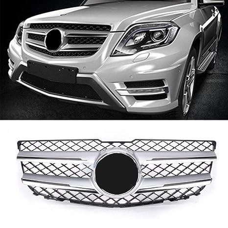 MOTORFANSCLUB Rejilla delantera cromada plateada para 2013 2014 2015 Benz GLK 250 350 delantera parrilla principal W Emblema 2048802983: Amazon.es: Coche y ...