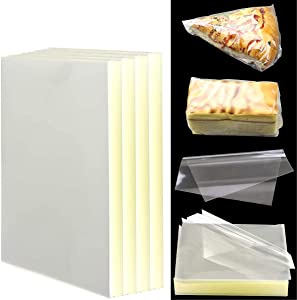 Pralb 1000PCS Candy Wrappers, Clear Non-stick Real Cellophane Wraps Caramel Wrappers Candy Chocolate Wrappers For Soft Hard Cadies Caramels And Chocolate (6x6 Inches)