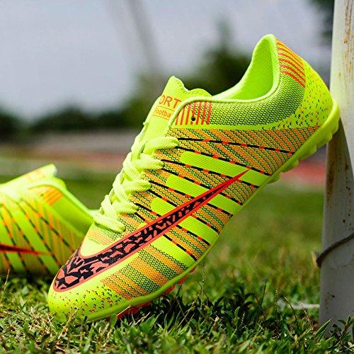 JiYe Men Soccer Shoes For Women Turf Shoe Indoor Cross Training by Green JCJAKkwCdK