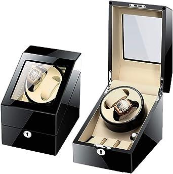 Watchwinder Fur Relojes automáticos Watchwinder Automatic Rotate 2 + 3 Estuche de Cuero para Guardar Cajas Winder Box (Color : D): Amazon.es: Relojes