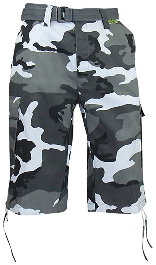14ca15cd08 Regal Wear Mens Camouflage Cargo Shorts with Belt | Amazon.com