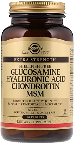 Suplemento en tabletas con glucosamina, ácido hialurónico, chondroitin y MSM Solgar 120 unidades: Amazon.es: Salud y cuidado personal