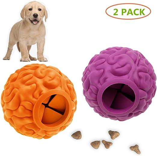 PETOYO Pelotas de Comida para Perros Juguetes IQ Ball Dispensador de Alimentos IQ Entrenamiento para Perros medianos y Grandes, Filete aromático de Goma Suave, Gruesa, Juego de 2: Amazon.es: Productos para mascotas