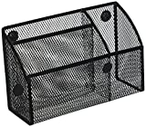 Honey-Can-Do OFC-06211 Mesh Magnetic Organizer, 2.75 x 7.5 x 4.75, Black