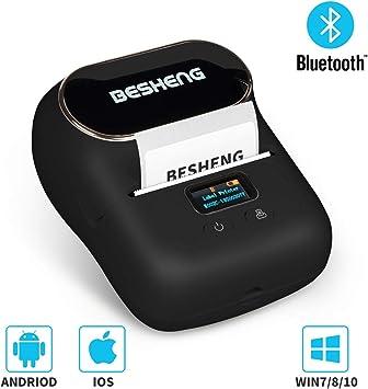Amazon.com: BESHENG - Impresora portátil con Bluetooth para ...