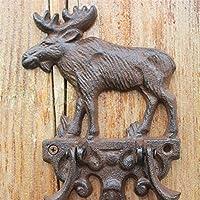 YoiGn Llamador de la Puerta Elk Door Knocker Handle Vintage ...