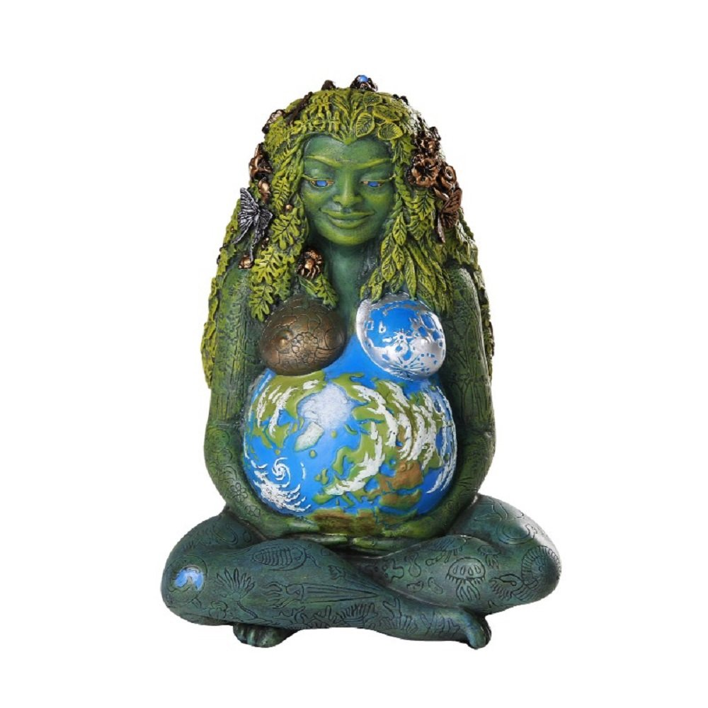 Millennial Gaia madre tierra diosa estatua por Oberon Zell 7/Inch Tall