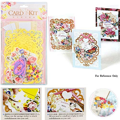 Asian Hobby Crafts DIY Card Making Kit (SKF052) with Patterned Cards, envelopes, decoupages Cut Outs and Embellishments for Birthday, Anniversary, Valentines Day (B07WLZMGDX) Amazon Price History, Amazon Price Tracker