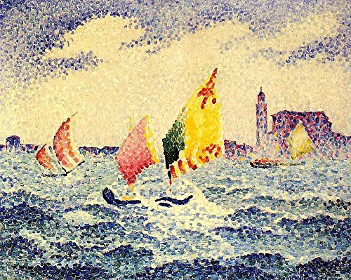 The Museum Outlet - Sailboats near Chicago, 1903-05 - Canvas Print Online Buy (40 X 50 - Near Outlets Shopping Chicago