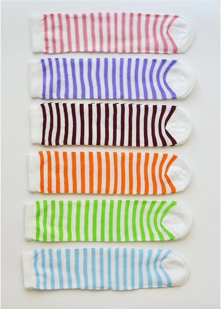 Fontana Calze Prodotto italiano. 12 paia di calzini DONNA in cotone 100/% in vari colori e taglia unica 35//41