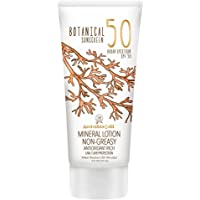 Australian Gold Botanical Sunscreen Mineral Lotion SPF 50, 5 Ounce, Broad Spectrum, Water Resistant
