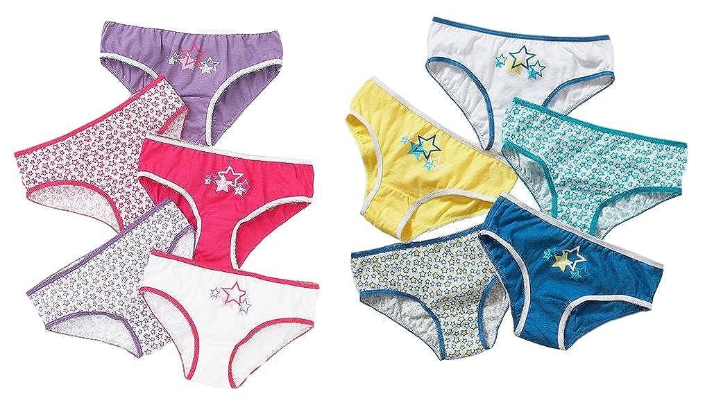 Just Essentials Slip in cotone per ragazze - confezione da 10 pezzi