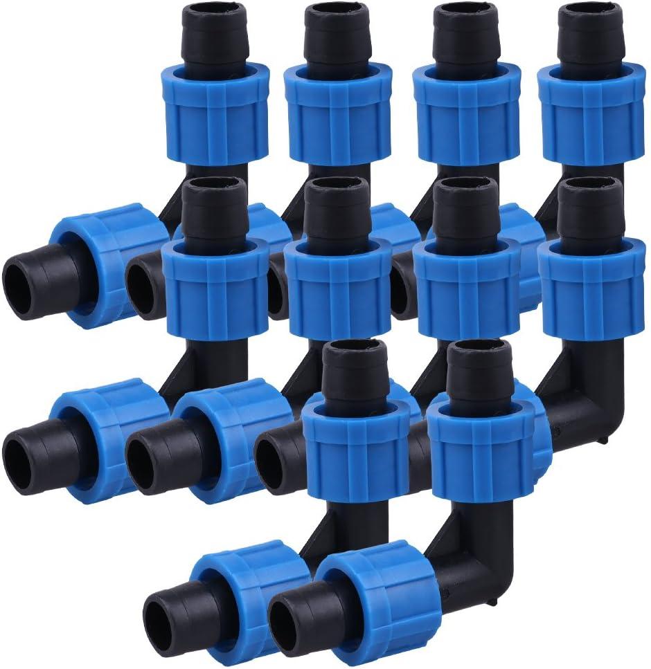 10pcs Green 16mm Perma-Loc Drip Garden Irrigation Fitting Tape Tubing Elbow