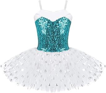 CHICTRY Vestido de Danza Ballet Niña Maillot de Gimnasia ...